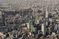Aerial the Yotsuya Akasaka direction from Tokyo Roppongi 1-chome sky Stock photo [2959133] Akasaka
