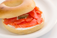 Smoked salmon bagels Stock photo [2961559] Smoked