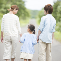 Holding Hands parent-child Rear View Stock photo [3040219] Family