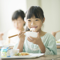 Elementary school students eat lunch Stock photo [3044089] Primary