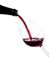 I pour the red wine from the bottle Stock photo [3045459] Wine
