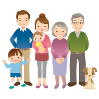 Family three generations illustrations [3047596] Family