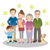 Family three generations illustrations [3047604] Family