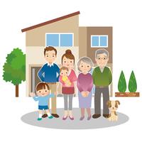 Family three generations illustrations [3047622] Family