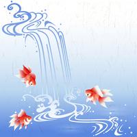 Running water and goldfish [3124991] Running