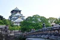 I hope the Osaka Castle castle tower than Gokurakubashi Stock photo [3125175] Osaka