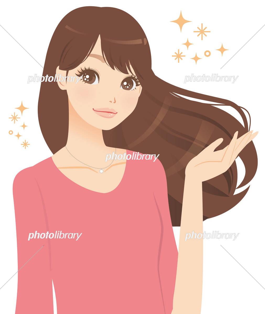 きれいな髪の女性 イラスト素材 3236459 フォトライブラリー
