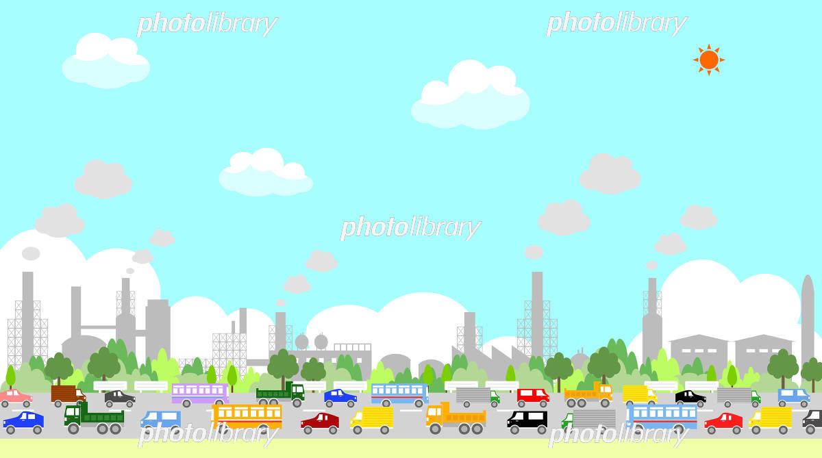 大気汚染 イラスト素材 3237386 フォトライブラリー Photolibrary