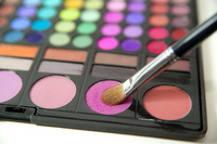 Makeup pallet and Makeup Brushes Stock photo [3229911] Makeup