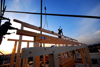 Completion of framework site Stock photo [3236079] Completion