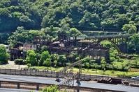 候硐(ホートン)の選炭施設と石炭運搬橋