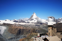 Gornergrat observatory and the Matterhorn Stock photo [3236792] Switzerland