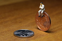 Coins and businessman Stock photo [3241173] Coins