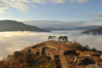 Takeda Castle floating in the sea of clouds (morning) Stock photo [3242235] Takeda