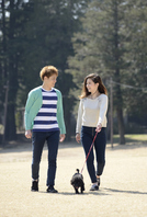 Young couple to walk the dog Stock photo [3328418] Couple
