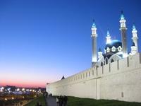 Shining in the night sky Kazan Kremlin Stock photo [3328904] Russia