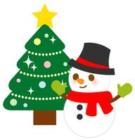 Christmas tree [3331886] Snowman