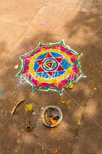 インド ブバネーシュワル 寺院前...