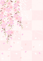 Weeping cherry checkered paper style [3422478] Cherry