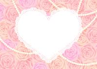 Rose and Heart of frame white [3423530] Rose