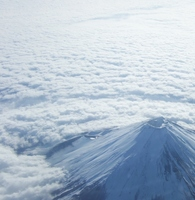 Fuji floating on a sea of clouds Stock photo [3426872] Fuji