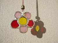 Stained glass flower-shaped pendant Stock photo [3626883] Flower-shaped