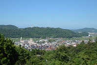 Kurayoshi city seen from Utsubukiyama Stock photo [3635622] Utsubukiyama