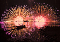 Lake Suwa of fireworks Stock photo [3636942] Fireworks
