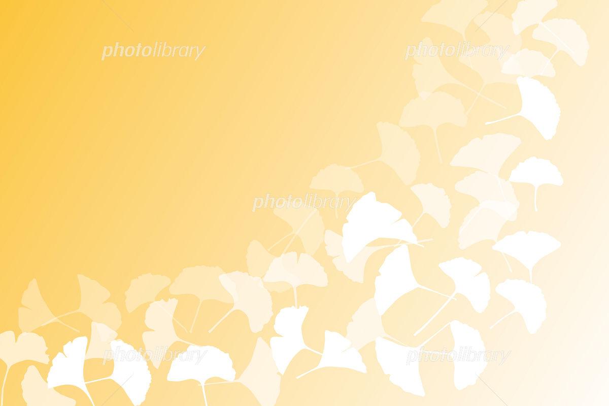 銀杏の葉の和風壁紙 イラスト素材 3855021 フォトライブラリー