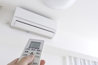 Air conditioning on the remote control Stock photo [3857951] Air