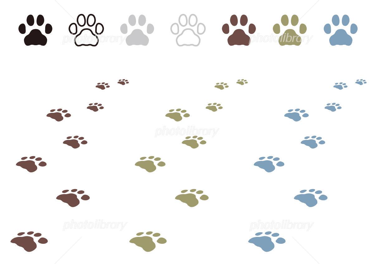 犬の足跡 イラスト素材 無料 フォトライブラリー Photolibrary