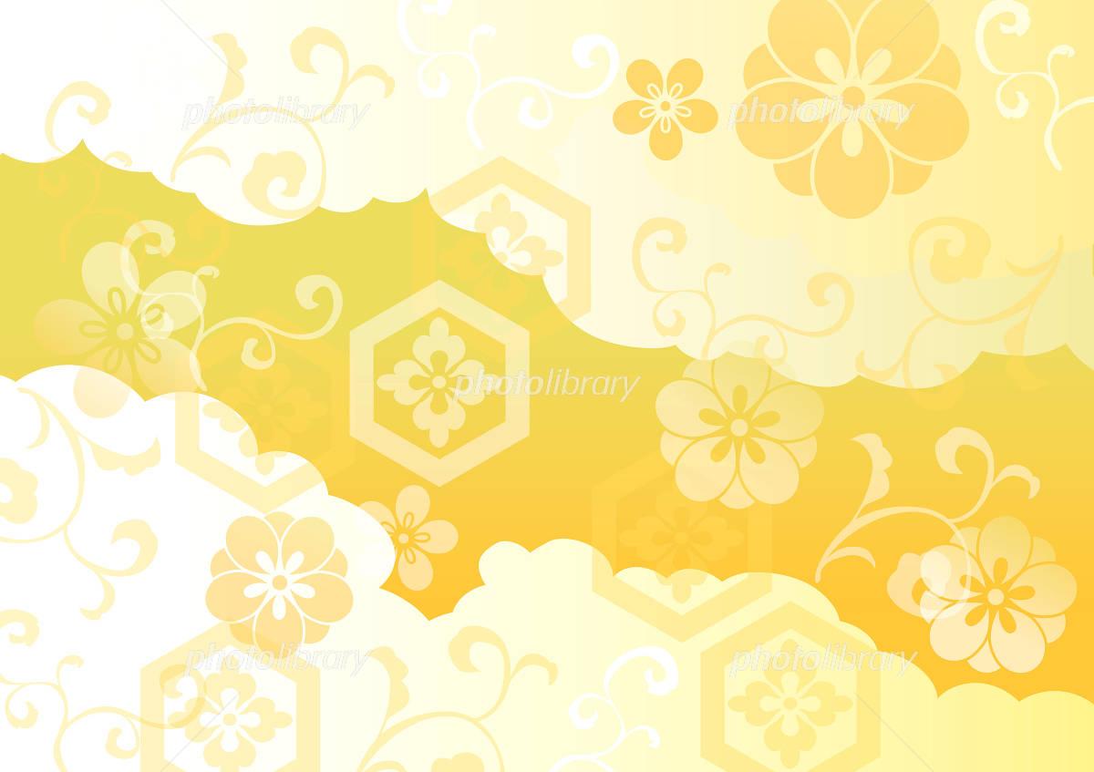 _ _ Ornate gold Japan イラスト素材