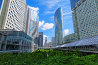 Shinagawa Intercity and the Shinagawa Grand Commons that blue sky spread Stock photo [3948635] Blue
