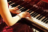 Women playing the grand piano Stock photo [3953323] Grand