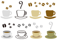 Coffee cup and coffee beans [3954545] Illustration