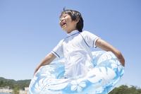 Children's smile with a float Stock photo [3958220] Summer