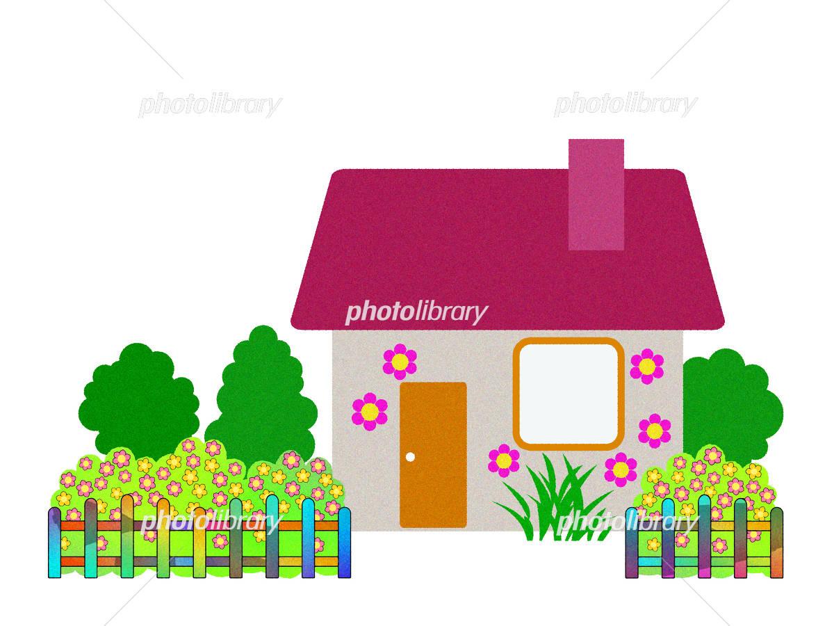 庭付きの可愛い家 イラスト素材 4041300 フォトライブラリー