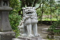 Guardian lion-dog at Shinto shrine Stock photo [4034630] Top