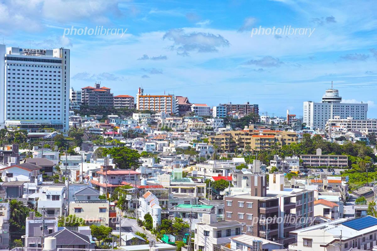 那覇市 街並みの写真素材