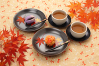 Japanese sweets and tea background dragonfly Stock photo [4111912] Japanese