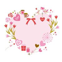 Heart-shaped frame (Love Elements) [4168300] heart