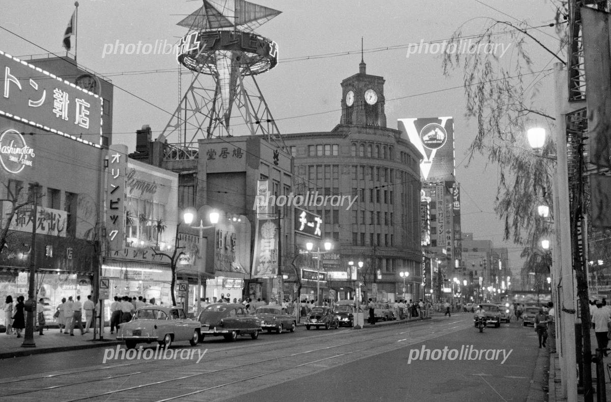 銀座四丁目交差点 1958年 写真素材 [ 4791889 ] - フォトライブラリー ...