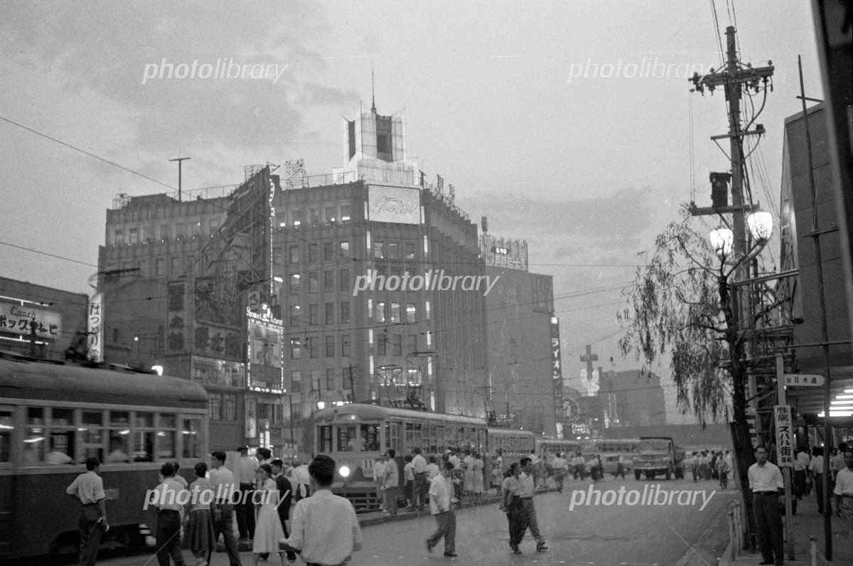 銀座 数寄屋橋 1958年 写真素材 [ 4793653 ] - フォトライブラリー ...