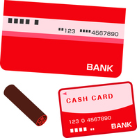 Bank of passbook and cash card and stamp [4787640] passbook