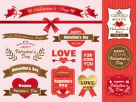 Valentine's label design set [4794569] Valentine