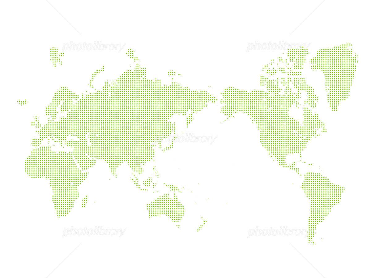 世界地図 日本地図 点描 グローバル イラスト素材 4889257 フォト