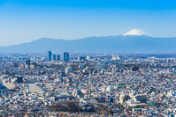 Fuji and the Tokyo City View Stock photo [4888549] Fuji