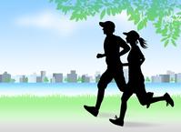 Couple to running the riverside [4891383] running