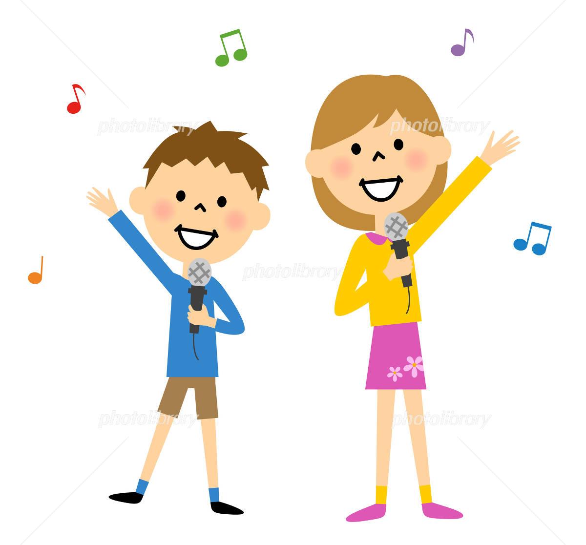 歌をうたう子ども イラスト素材 [ 4997079 ] - フォトライブラリー ...