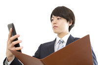 Check the tablet while having a businessman file Stock photo [4989431] Tablet